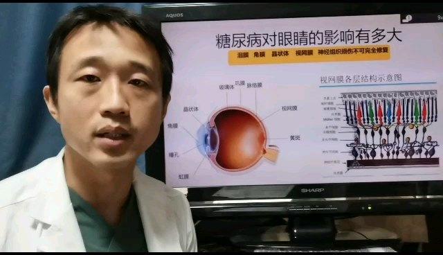 糖尿病的患者更容易出现干眼症,角膜损伤,白内障,糖尿病视网膜病变,对策:控制好血糖,关注眼部并发症